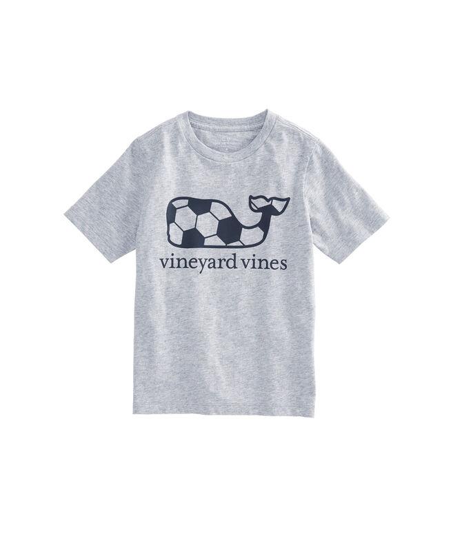 Boys Soccer Ball Whale Fill T-Shirt