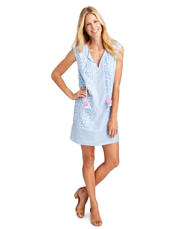Otomi Border Vineyard Tunic Dress