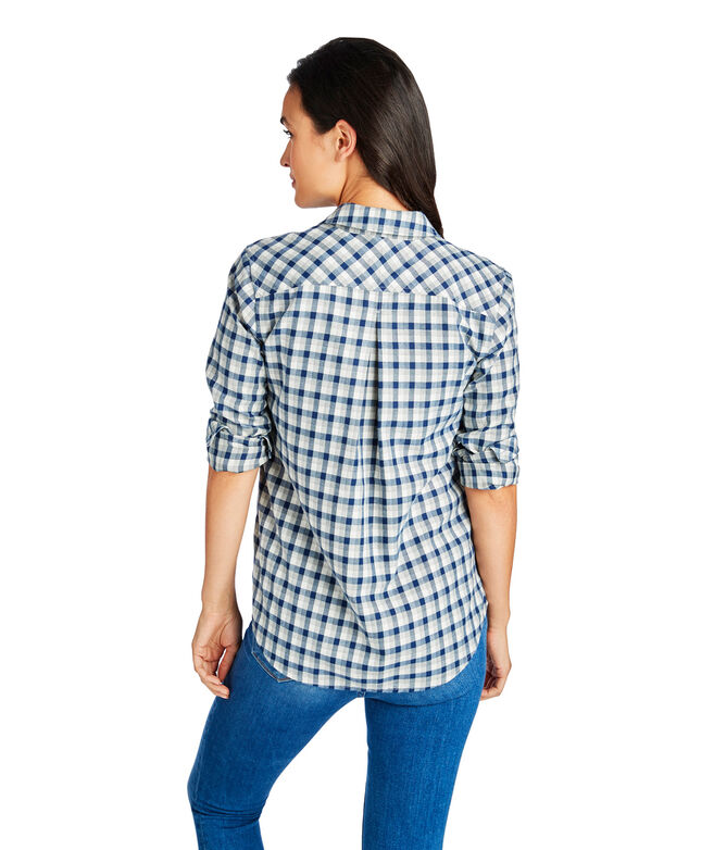 Tri-Color Flannel Chilmark Relaxed Button Down