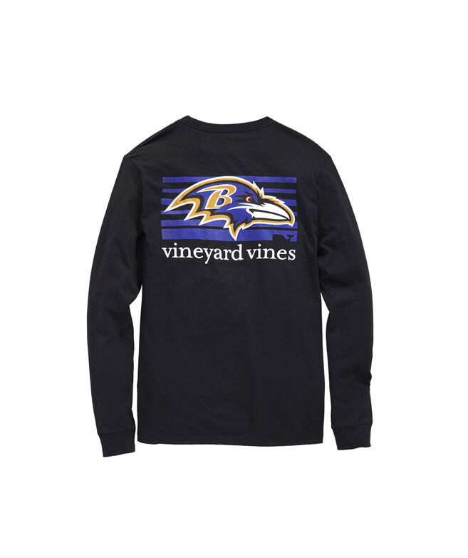 Baltimore Ravens Long-Sleeve Block Stripe T-Shirt