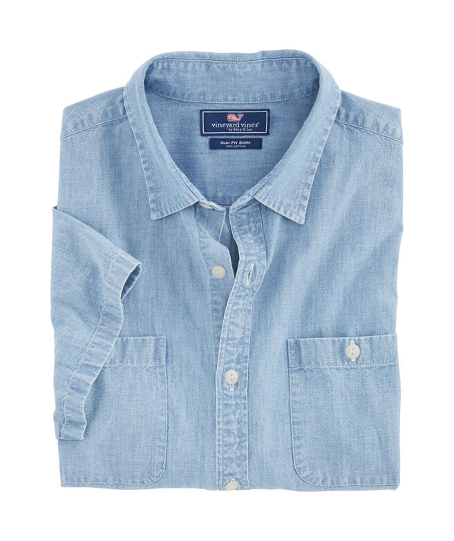 Short-Sleeve Chambray Dockside Slim Murray Shirt