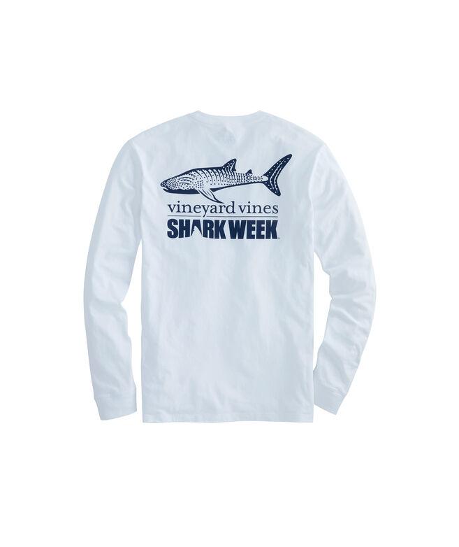 Long-Sleeve Shark Week Whale Shark Pocket T-Shirt