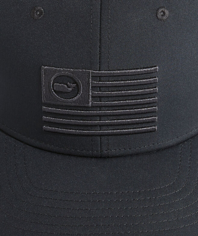 Embroidered Whale Flag Performance Trucker Hat