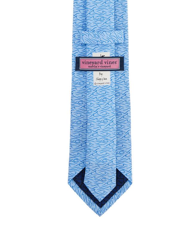 Brush Waves Printed Tie