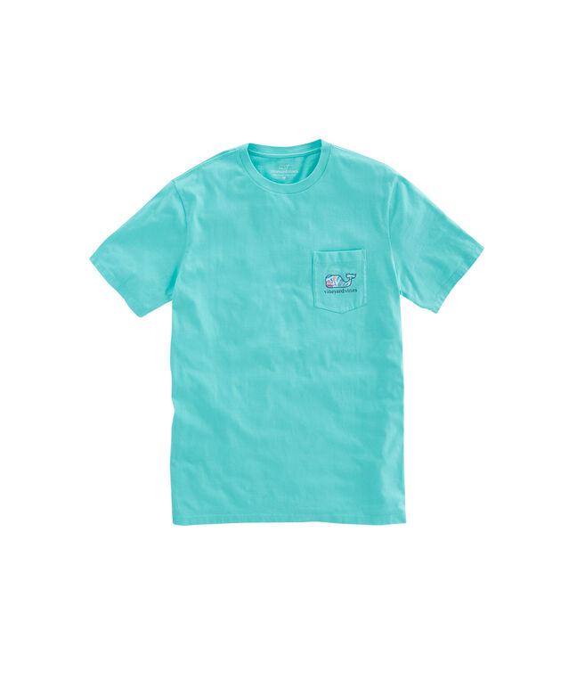 Floral Whale Fill Pocket T-Shirt