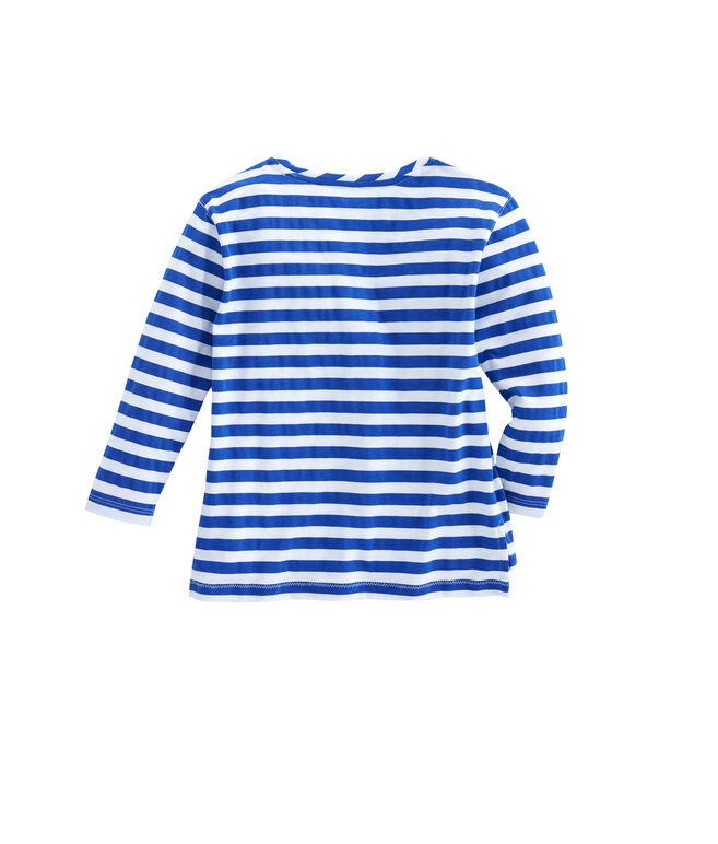 Girls Long-Sleeve Sea Critter & Stripe Tee