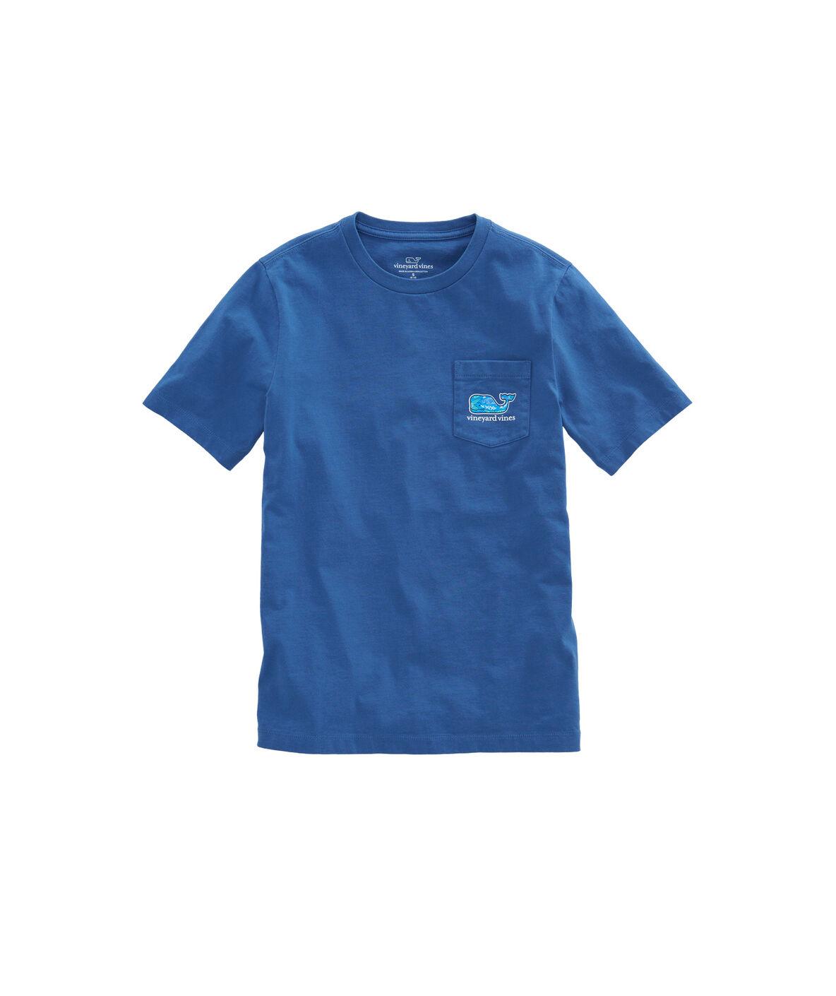Shop boys fish scales fill pocket t shirt at vineyard vines for Fish scale shirt