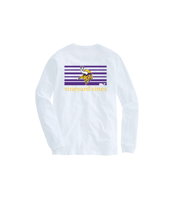 Minnesota Vikings Long-Sleeve Block Stripe Tee