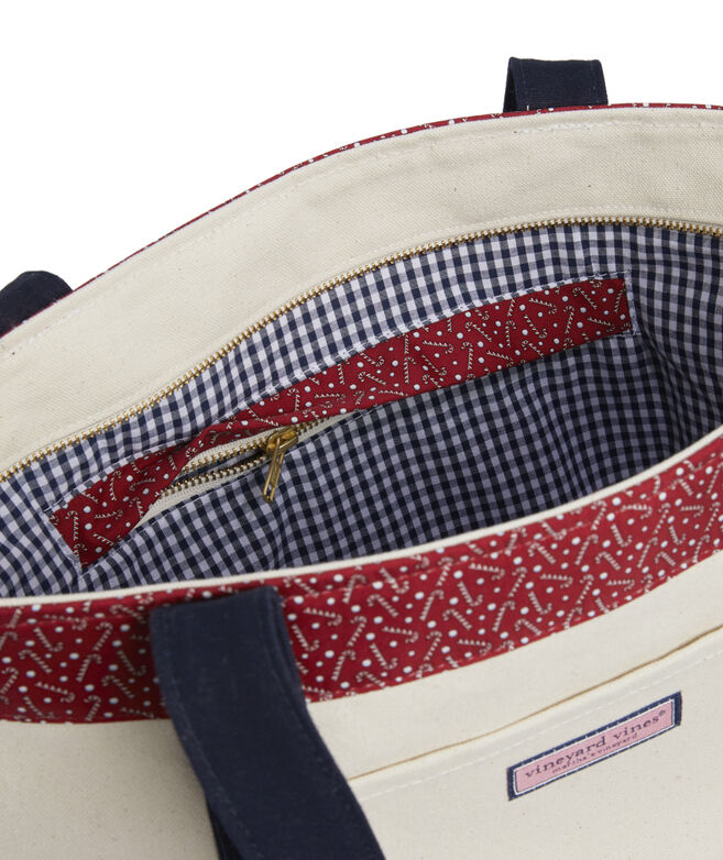 Tossed Candy Canes Classic Tote