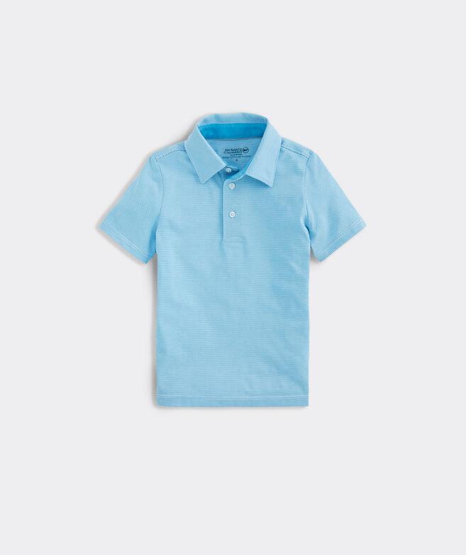 Boys' Carmel Micro Stripe Polo