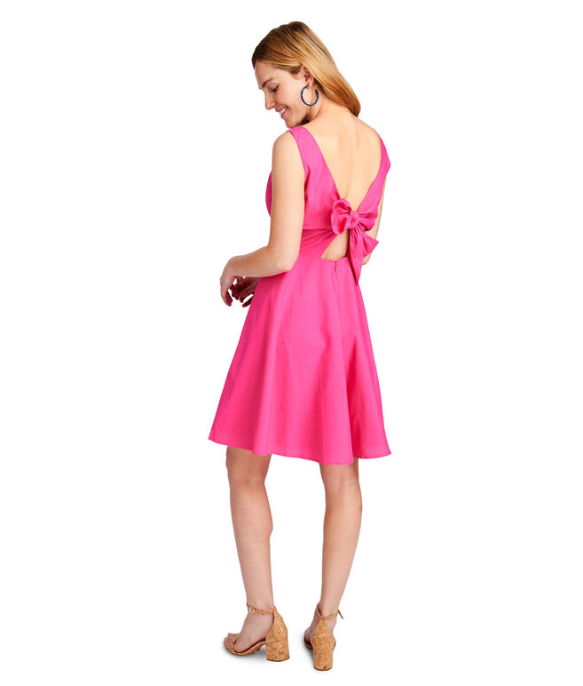 V-Neck Fit And Flare Dress