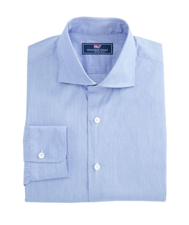 Striped Spread Collar Greenwich Shirt