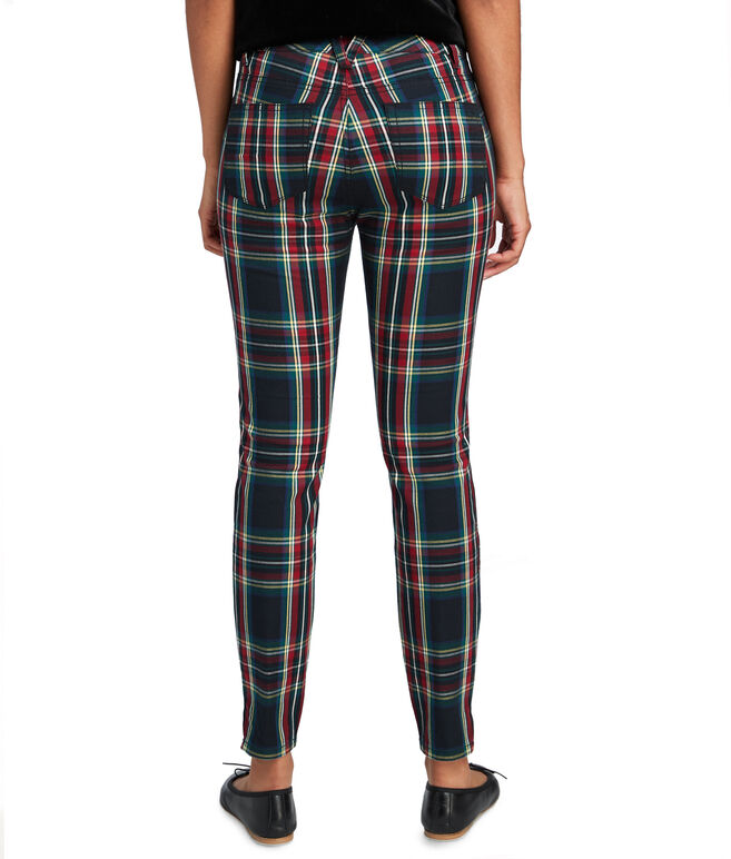 Jamie High Rise Jolly Plaid Pants