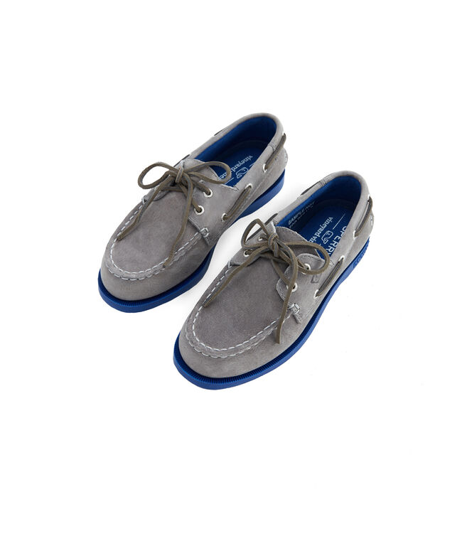 Big Kids Sperry x vineyard vines Authentic Original Plush Two-Eye Boat Shoe