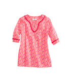Girls Shell Print Tunic Top