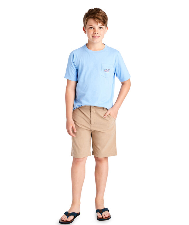 Boys Fish Stars Whale Fill Pocket T-Shirt
