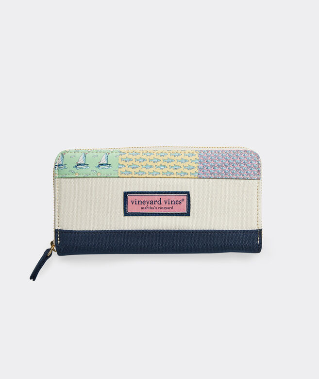 Patchwork Zip Wallet