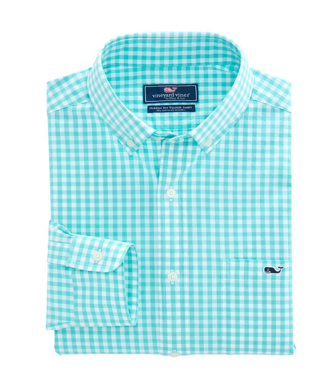 Carleton Gingham Classic Stretch Tucker Shirt
