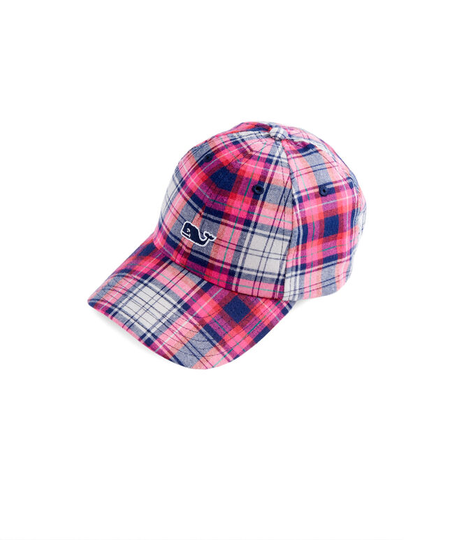 Girls Plaid Baseball Hat