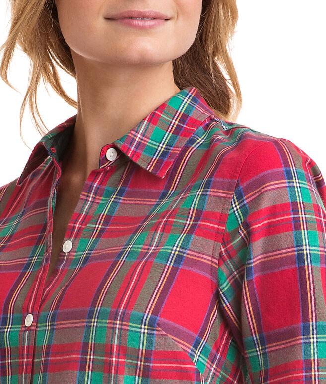 Jolly Plaid Cotton Cashmere Classic Button Down