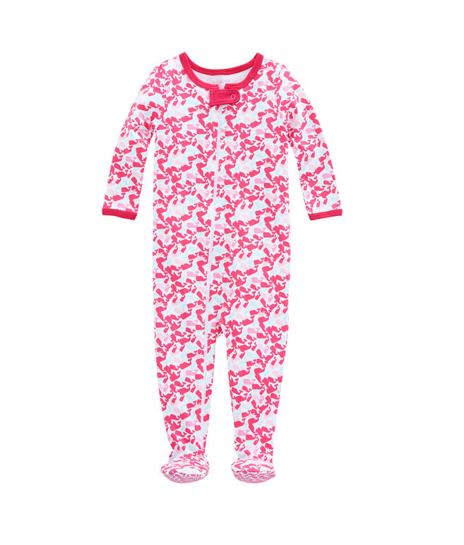 Scattered Whale Footed Onesie