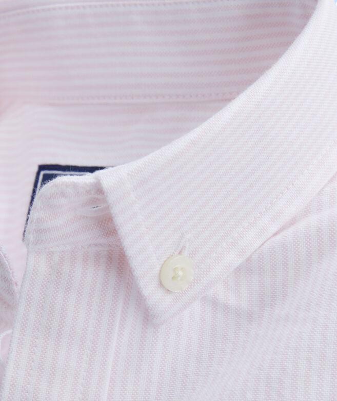 62bb8246b7af76 Shop Kids Fine Line Stripe Oxford Whale Shirt at vineyard vines