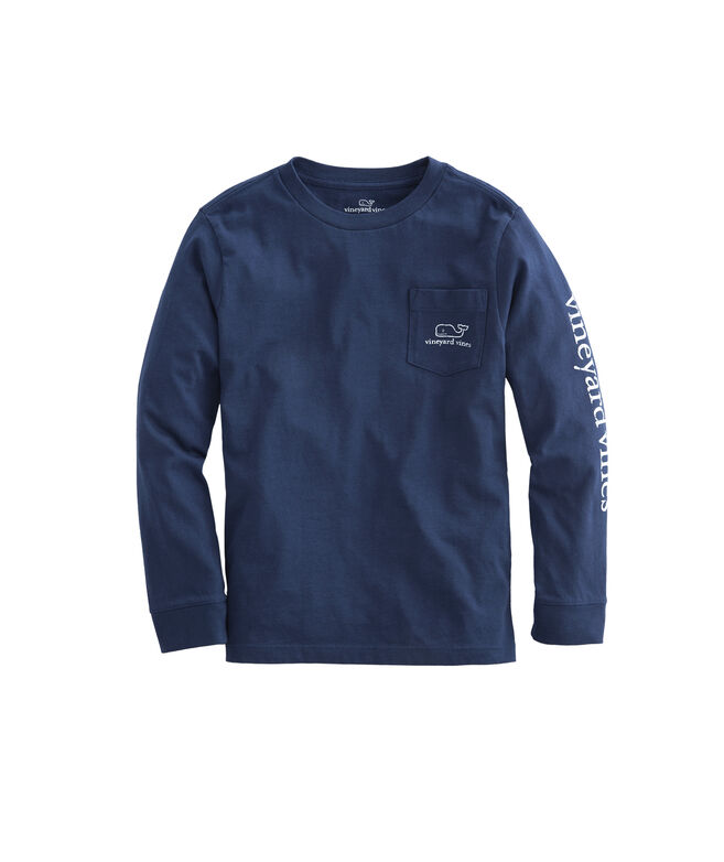 Kids Vintage Whale Long-Sleeve Graphic Tee