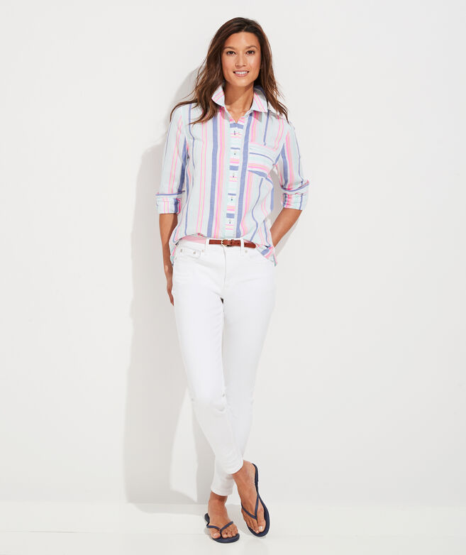 Boca Grande Stripe Chilmark Relaxed Button-Down Shirt