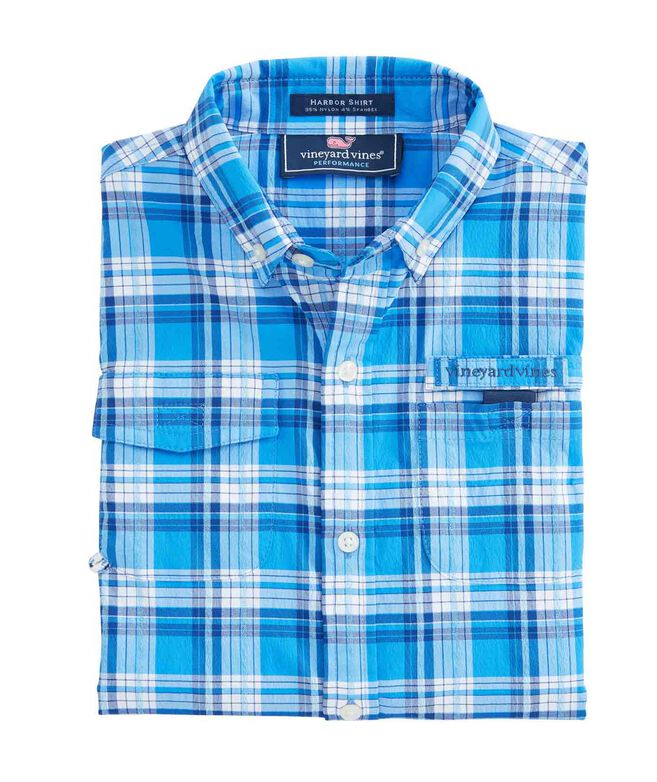 Boys Stretch Plaid Harbor Shirt