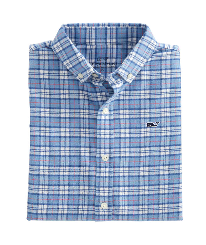Boys Cades Flannel Whale Shirt