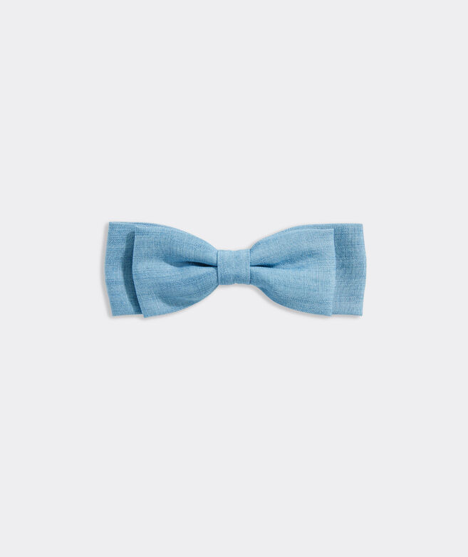 Chambray Bow Barrette