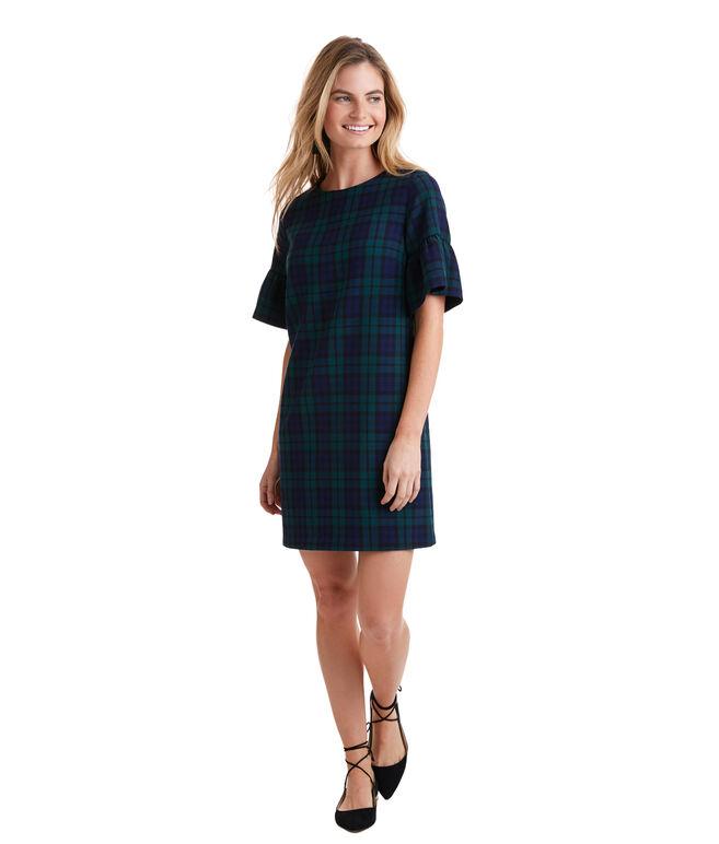 Blackwatch Flutter Sleeve Dress
