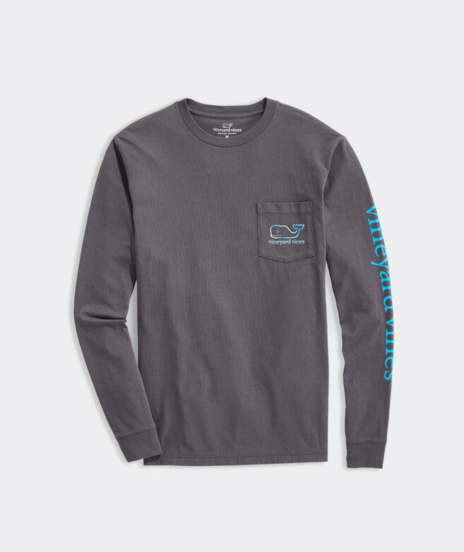 Ombre Whale Long-Sleeve Pocket Tee