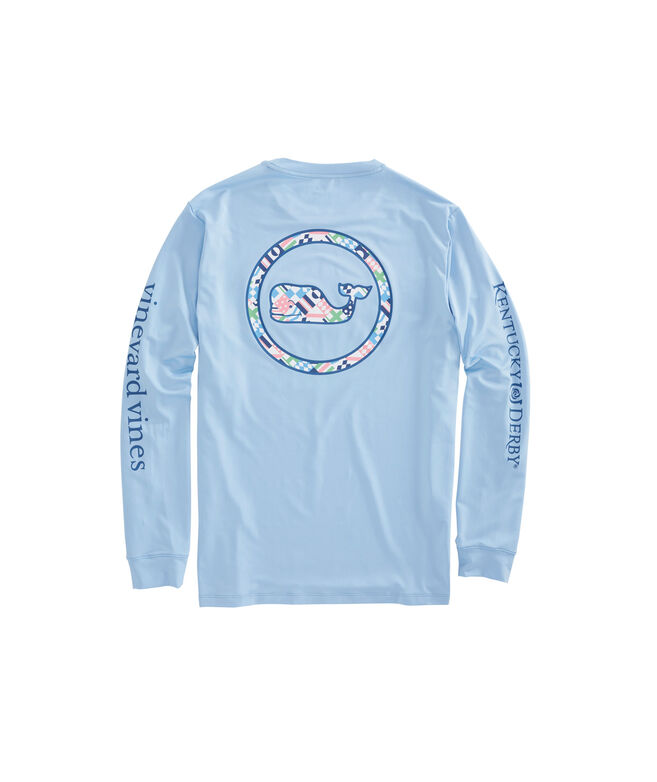 Long-Sleeve Performance Patchwork Tie Whale Pocket T-Shirt