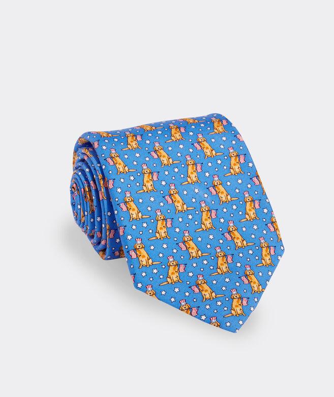 Patriotic Pup Printed Tie