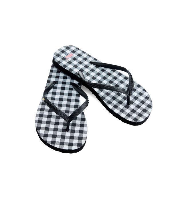 Gingham Printed Flip Flops