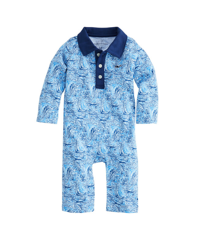 Baby Boy Vineyard Sailing Polo One-Piece