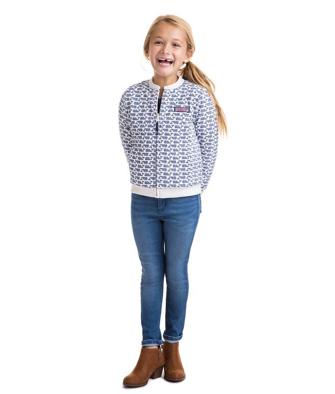 Girls Reversible Fuzzy Full Zip