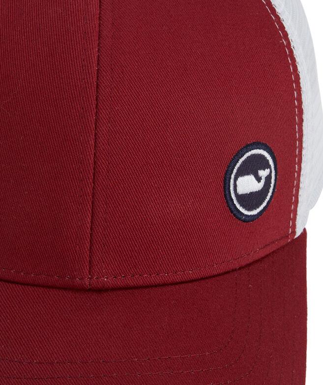 Side Hit Whale Dot Patch Trucker Hat