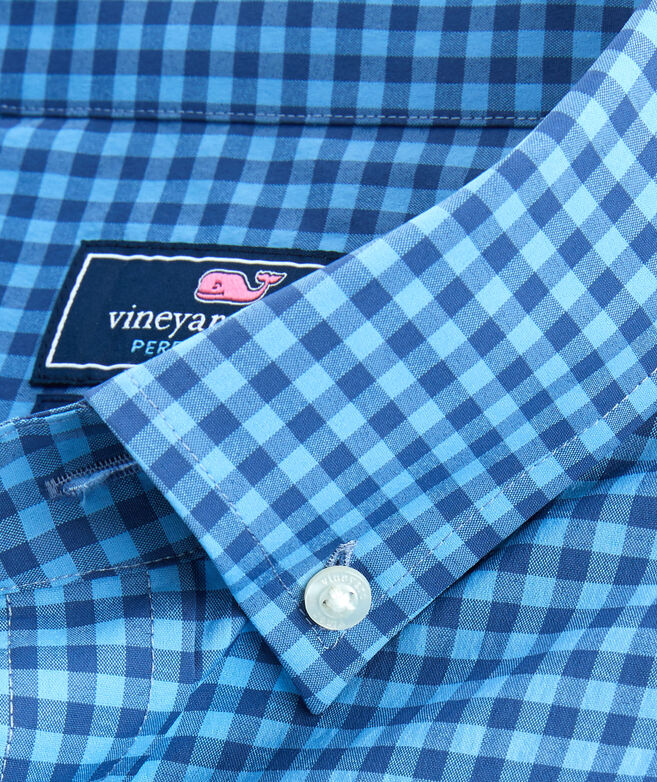 Classic Fit Color-To-Color Gingham On-The-Go Performance Murray Shirt