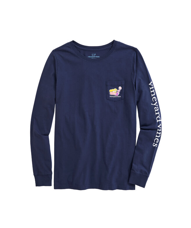 OUTLET Women's Basketball Whale Long-Sleeve Pocket Tee