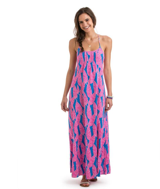 Shop Palm Print Maxi Dress at vineyard vines