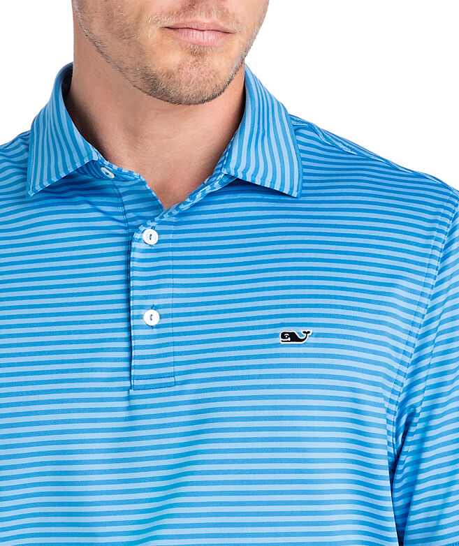 Kennedy Stripe Sankaty Performance Polo