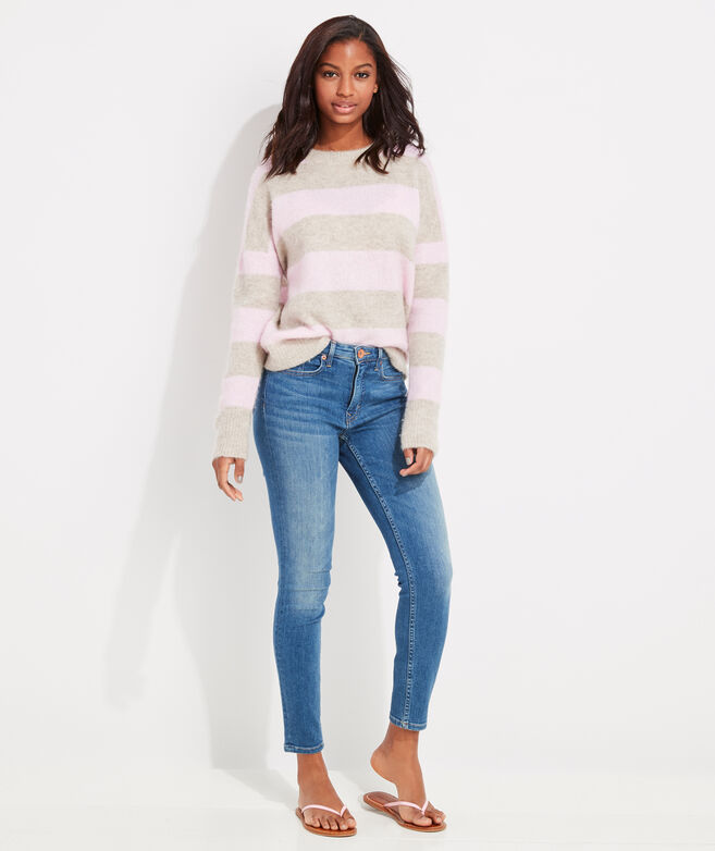 Rugby Stripe Crewneck Sweater