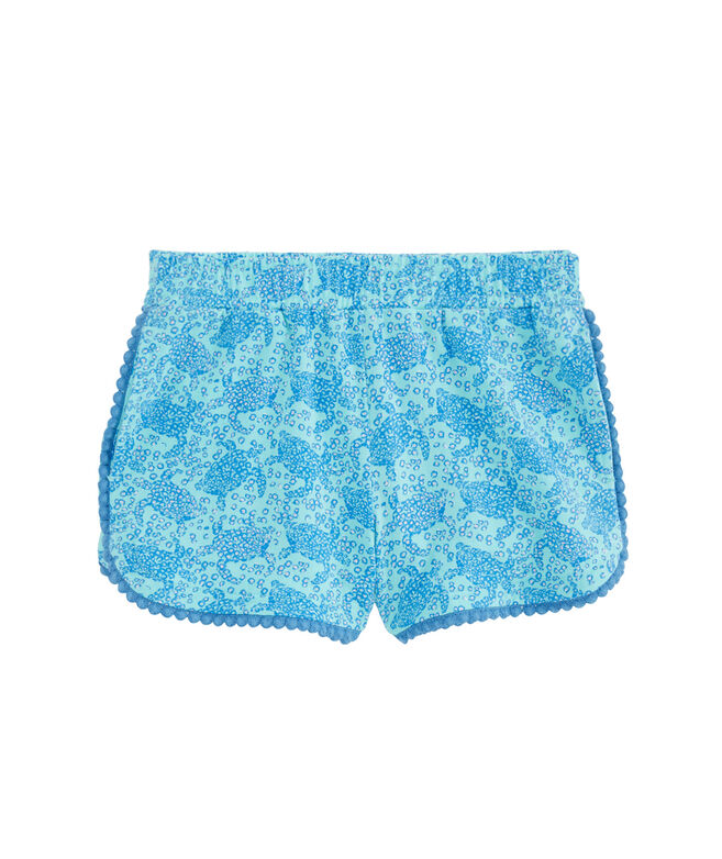 Girls Sea Turtles Pull-On Knit Shorts