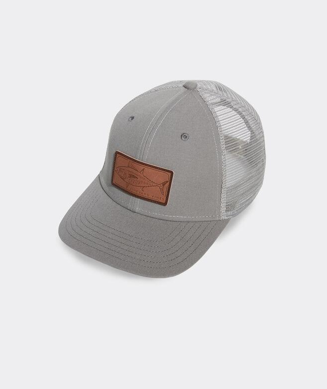 Leather Tuna Patch Trucker Hat