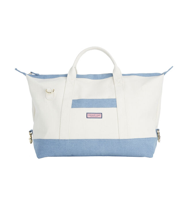 Chambray Bottom Weekender Bag