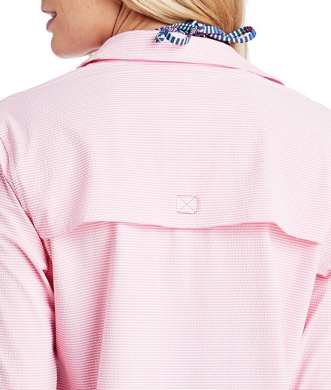 Pier Stripe Harbor Shirt Cover-Up
