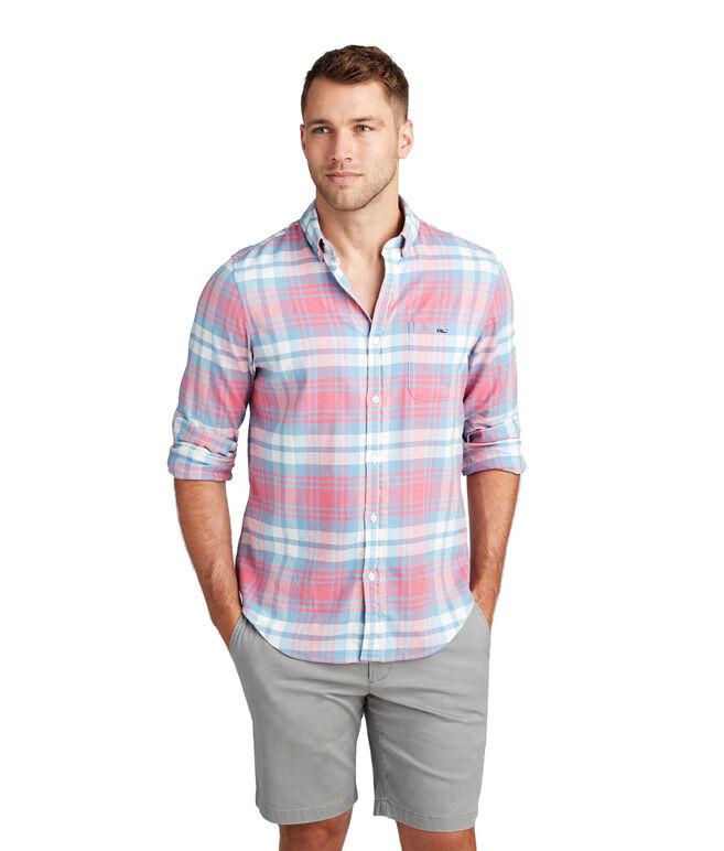 Kings Point Beach Flannel Slim Tucker Shirt