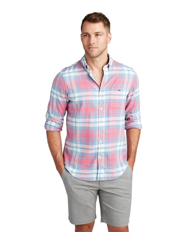 Slim Fit Kings Point Beach Flannel Tucker Shirt